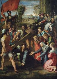Rafaello, Chrystus upadający na drodze na Kalwarię, ok. 1526, olejny, Museo Nacional del Prado, Madryt